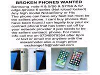 wanted broken/faulty phones