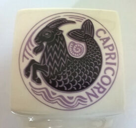 Broadstairs Pottery 1970's Retro, Rare, Unusual Capricorn Money Box