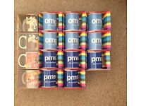 Mugs x15 brand new in boxes