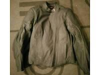 Ladies Hein Gericke leather/armoured motorbike jacket