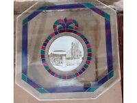 Beautiful Stained Glass and Sandblasted window, Church image.