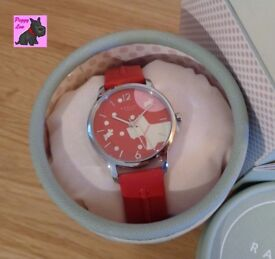 Radley RY2407 Ladies 'Over The Moon' in 'Blazer Red' Leather Strap Watch – NEW RRP: £85