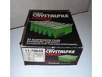 Twinlock Crystalfile Linked A4 Suspension Files with Tabs & Inserts Green pk of 50