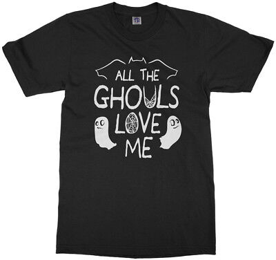 Halloween Sayings Funny (All The Ghouls Love Me Youth T-Shirt Funny Halloween Saying)