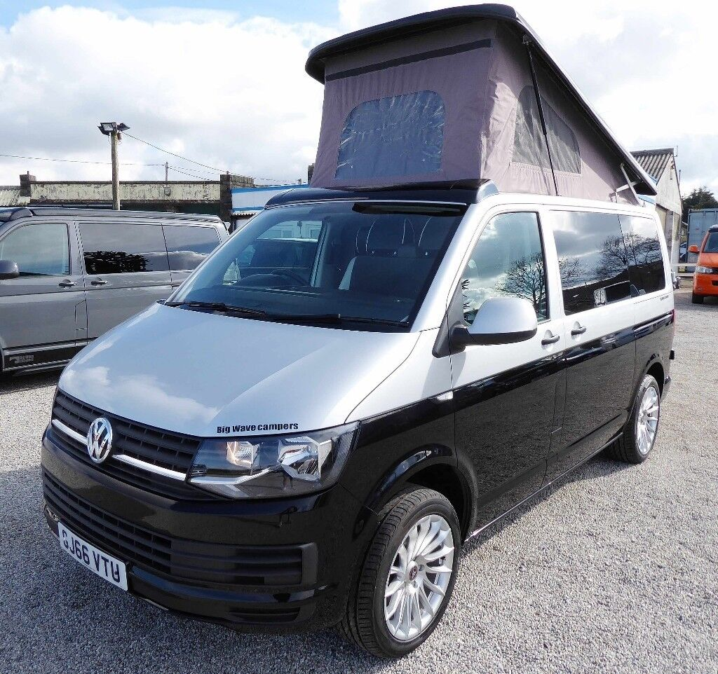 66 reg volkswagen vw transporter t6 102ps pop top brand. Black Bedroom Furniture Sets. Home Design Ideas