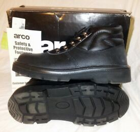 MENS GROUNDWORK WORKWEAR SAFETY BOOTS WITH STEEL TOE CAP ANKLE WORK SHOES LEATHER LACEUP BOOT SIZE 9