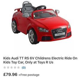 Kids Audi TT Children's electric ride on toy car