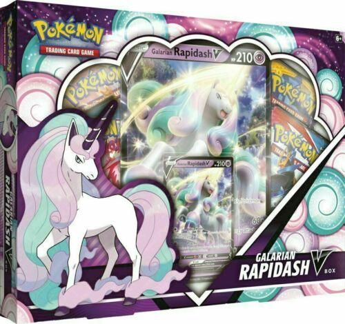 Pokemon TCG Galarian Rapidash V Collection Box NEW SEALED