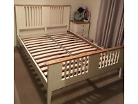 Double two tone bed frame