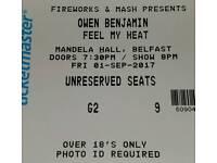 Owen Benjamin tickets x 2- Belfast