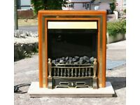 Electric Fire With Solid Marble Base