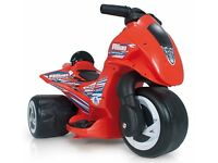 As new INJUSA 6v Kids ELECTRIC THREE WHEELER trike motorcyle Ages 1-2