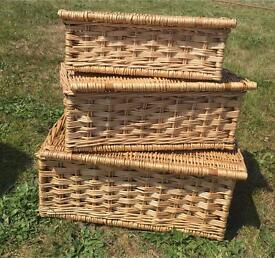 Baskets wicker 3 pc