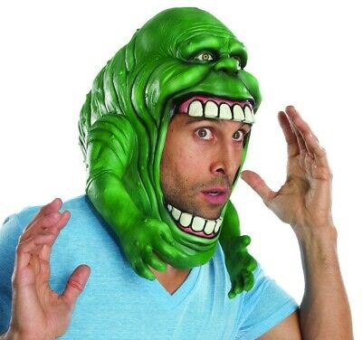 Ghostbusters Movie Slimer Headpiece Open Face Mask Adult Costume Accessory New - Ghostbusters Slimer Mask