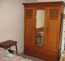 Satinwood Wardrobe vintage