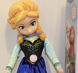 Singing Anna, Soft Doll from Frozen film