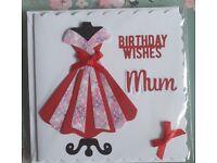 Handmade Mum/Mother birthday cards.