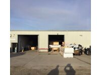 9000 sq ft industrial unit for rent in Pontefract.