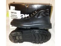STEEL TOE CAPPED SAFETY WORK BOOTS GROUNDWORK WORKWEAR ANKLE SHOES LEATHER LACEUP BOOT SIZE 9
