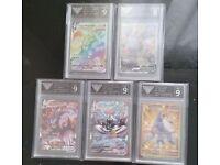 Pokemon Battle Styles x 5 Graded Cards Urshifu VMAX Houndoom Secret Empoleon V
