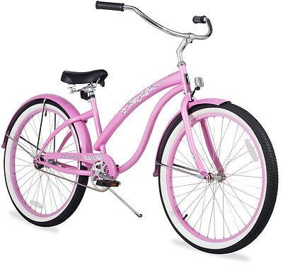 "24"" Beach Cruiser Bike Firmstrong Bella Classic Lady Pink"