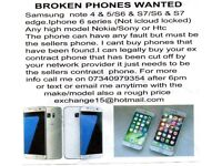 Wanted broken and faulty phones