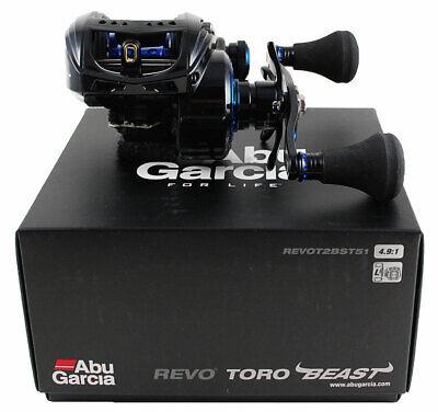 ABU GARCIA REVO TORO BEAST REVOT2BST51 4.9:1 LEFT HAND BAITCAST REEL #1365381