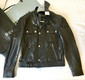 "Belstaff leather jacket ""cougar"" new with tags - medium size 38uk / 48 Italian"