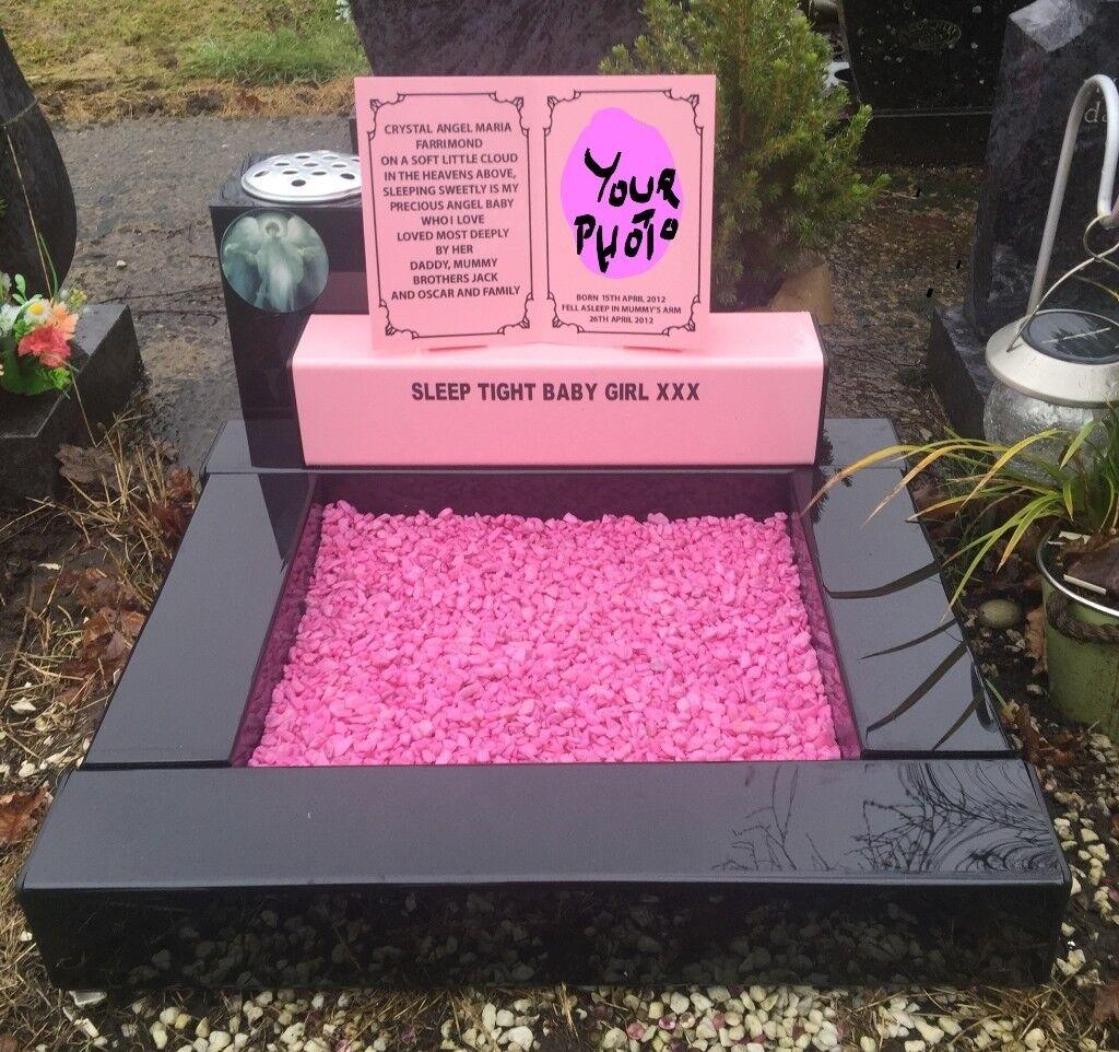 Memorial Grave Marker Headstone In Loving Memory Vase Pot Spike Mum