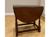 small lounge drop leaf side table