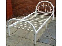 single bed metal frame. white. In very good condition.