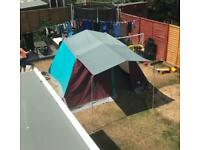 Family tent 3/4person, canvas outer with internal lining