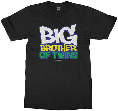 Big Brother Of Twins Youth T-Shirt Expecting Baby Gift Announcement