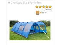 Brand new 6 man tent with Footprint & Carpet and extra camping equipment
