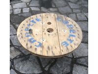 Wooden Cable Reel End - Shabby Chic, Upcycle Project