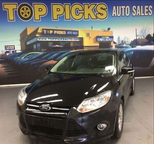 2012 Ford Focus SEL, LEATHER, SUNROOF, ALLOY WHEELS, LOW MILEAGE