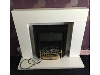 Dimplex electric fire, CHT20 model PLUS white surrounding unit