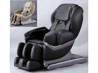 "Chandler ""Summit 7"" Full Body Luxury Massage Chair, Black or Gold, Zero Gravity"