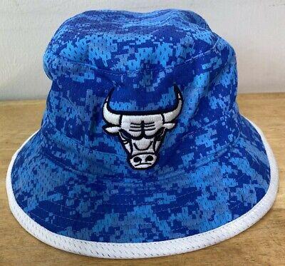 Chicago Bulls Bucket Hat Blue L/XL Flexfit Mitchell & Ness