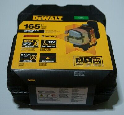 Dewalt Dw089k 3-beam Red Laser Level Cross Line 90degree Laser 16550m New