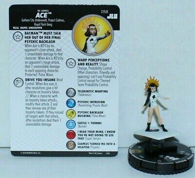 058 Ace Super Selten NM Justice League Unbegrenzte Dc Heroclix