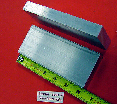 2 Pieces 1 X 3-12 Aluminum 6061 Flat Bar 6 Long T6511 Solid Plate Mill Stock