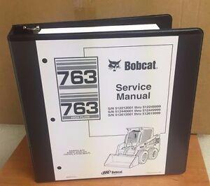 Bobcat service manual ebay bobcat 763 763 hf service manual book skid steer 6900091 repair shop book fandeluxe Images