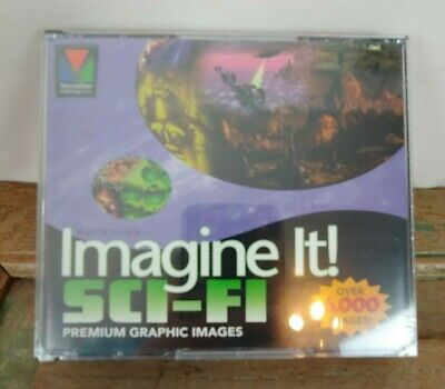 Imagine It Sci-Fi Graphics PC CD 6,000 Clipart Images Dragons  Robots New -