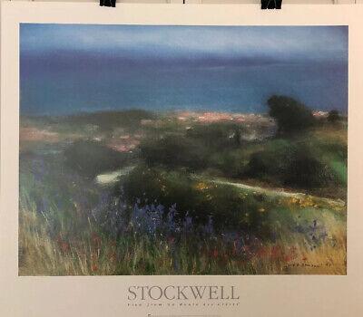 Fine Art Lithograph: John Stockwell - La Route Des Cretes - 26 X 30