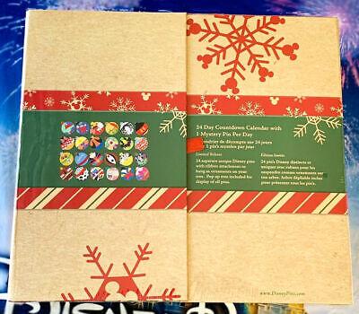 Disney Parks 2020 Christmas Advent Calendar Ornament Pins 24 Boxed Pin Set New