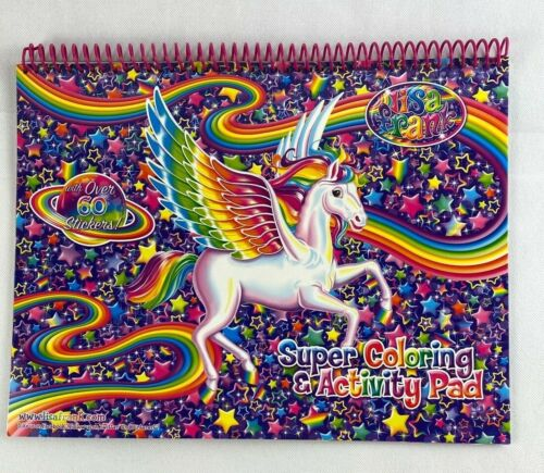 Lisa Frank Super Coloring and Activity Pad with Colorful Fun over 60 Stickers