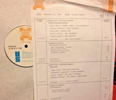 RADIO SHOW: DOUBLE 12/31/87 BRENDA LEE, NEIL DIAMOND, ABBA, ANIMALS, ARCHIES