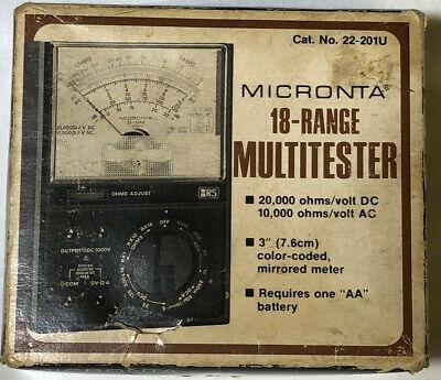 Multitester Micronta 18 Range