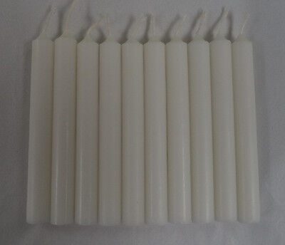 "Lot of 10 Chime Spell Candles: Bright White, Mini 4"" (NEW) Wicca, Altar, Ritual"